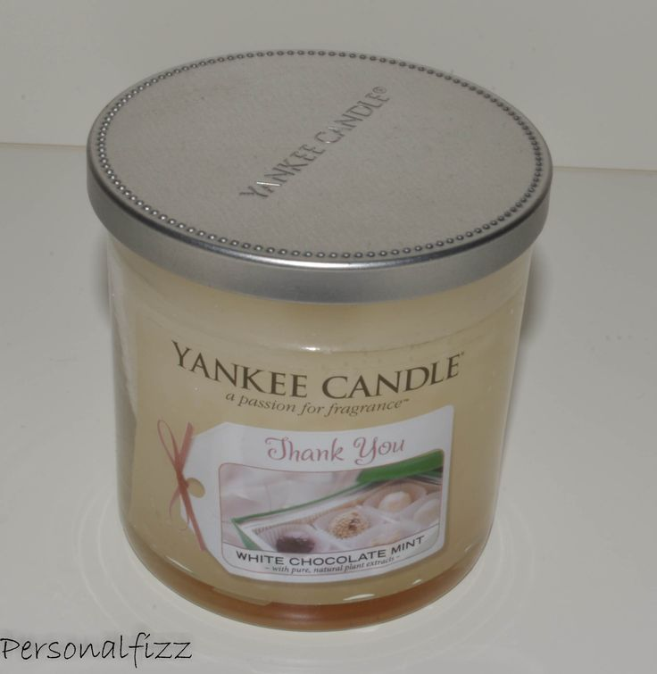Yankee Candle Tumbler small thank you white chocolate mint