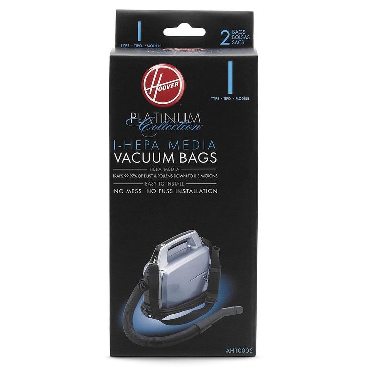 Hoover Platinum Collection I-Hepa Vacuum Bags - 2-pk., Black