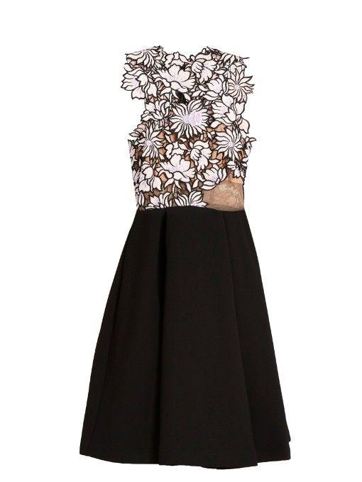 SELF-PORTRAIT Guipure-lace and crepe dress. #self-portrait #cloth #dress