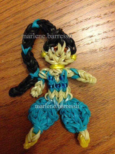 Princess Jasmine rainbow loom