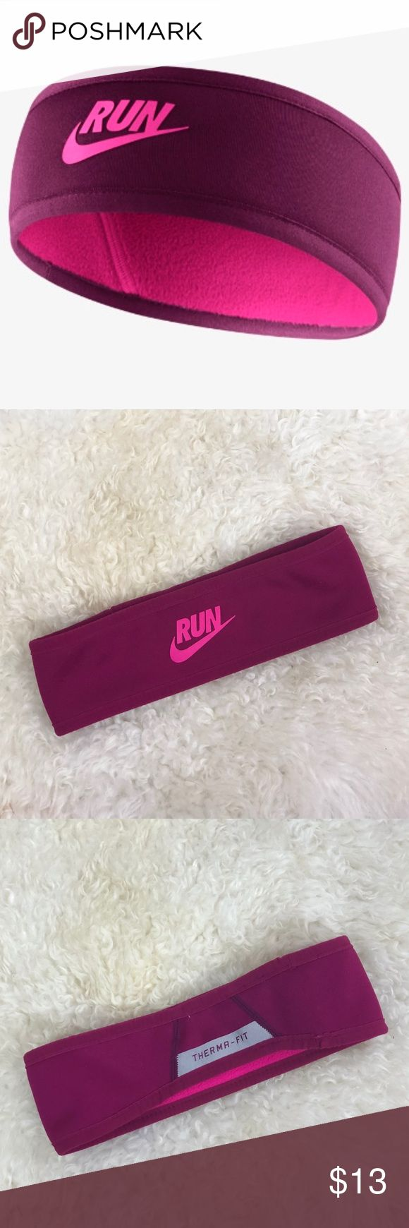 Nike Therma Fit Reversible Running Headband Perfect for morning runs outside! Nike Therma Fit Reversible Running Headband Magenta with Hot Pink Lining  One Size and In Great Condition  (B13)  Bundle for Discounted Shipping! Nike Accessories