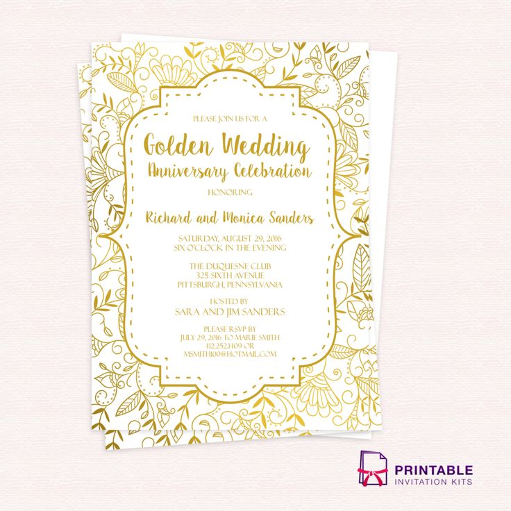 9 best templates gratis images on pinterest invitation kits free pdf template golden wedding anniversary invitation template easy to edit and print at stopboris