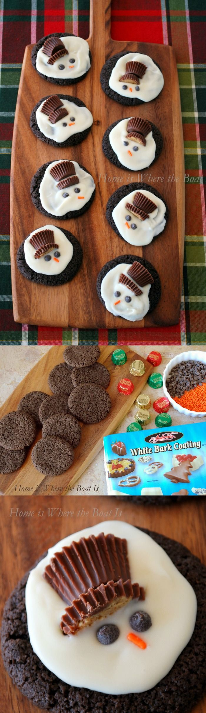 Melted Snowman Cookies   Home is Where the Boat Is