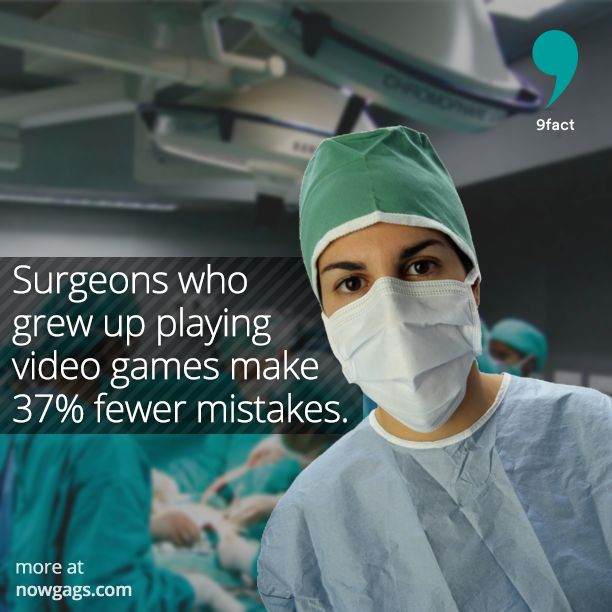 Surgeons who grew up playing video games make 37% fewer mistakes