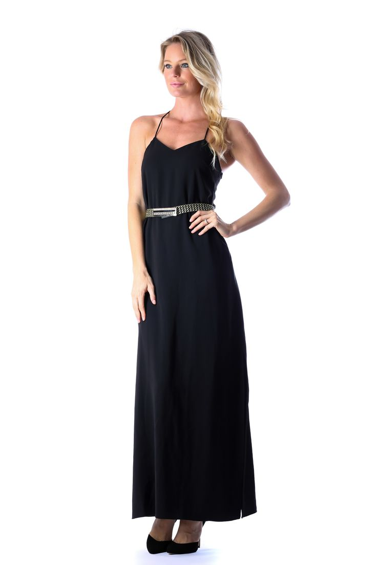 XARA MAXI DRESS BLACK WITH BELT http://runwaydream.com.au/xara-maxi-dress-black-with-belt-ixiah?options=cart Retail: $249.95 Hire:  $59