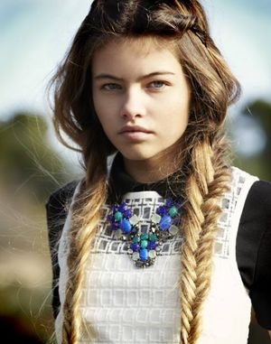 Thylane Blondeau will officially be in my Hair board a lot now because she is hair goals and goals in general