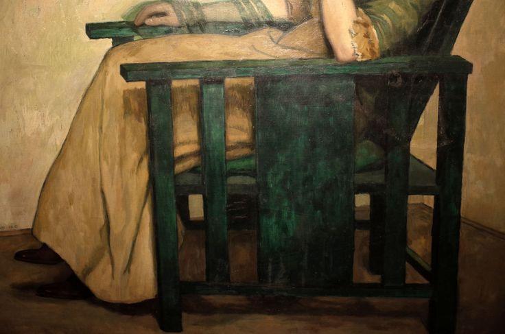 Zádor István: Feleségem, részlet, olaj, vászon 134 x 140 cm