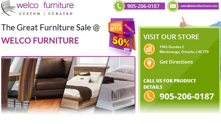 Welco Furniture, One of the Premier Furniture Store in Dundas Street Mississauga, ON serving Oakville, Burlington in ON. Call 905-206-0187 NOW for Furniture