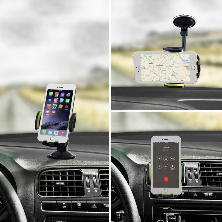 Omaker Car Mount Holder 3-in-1 Air Vent Cell Phone Holder Cradle Dashboard Windshield Universal for iPhone 7, 6, 6S, Samsung: Cell Phones & Accessories