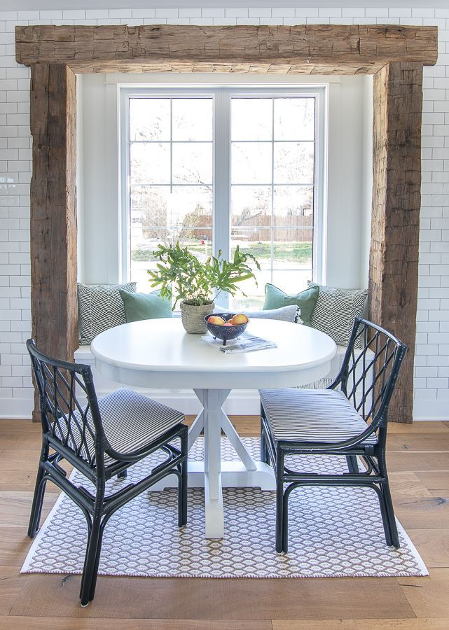 White Breakfast Nook Table Breakfast Nook Table Nook Table Farmhouse Dining Chairs