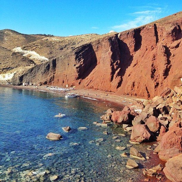 Red Beach #Santorini #Greece
