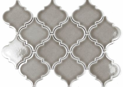 Currently 10 25 A Square Foot Dove Gray Arabesque Glazed