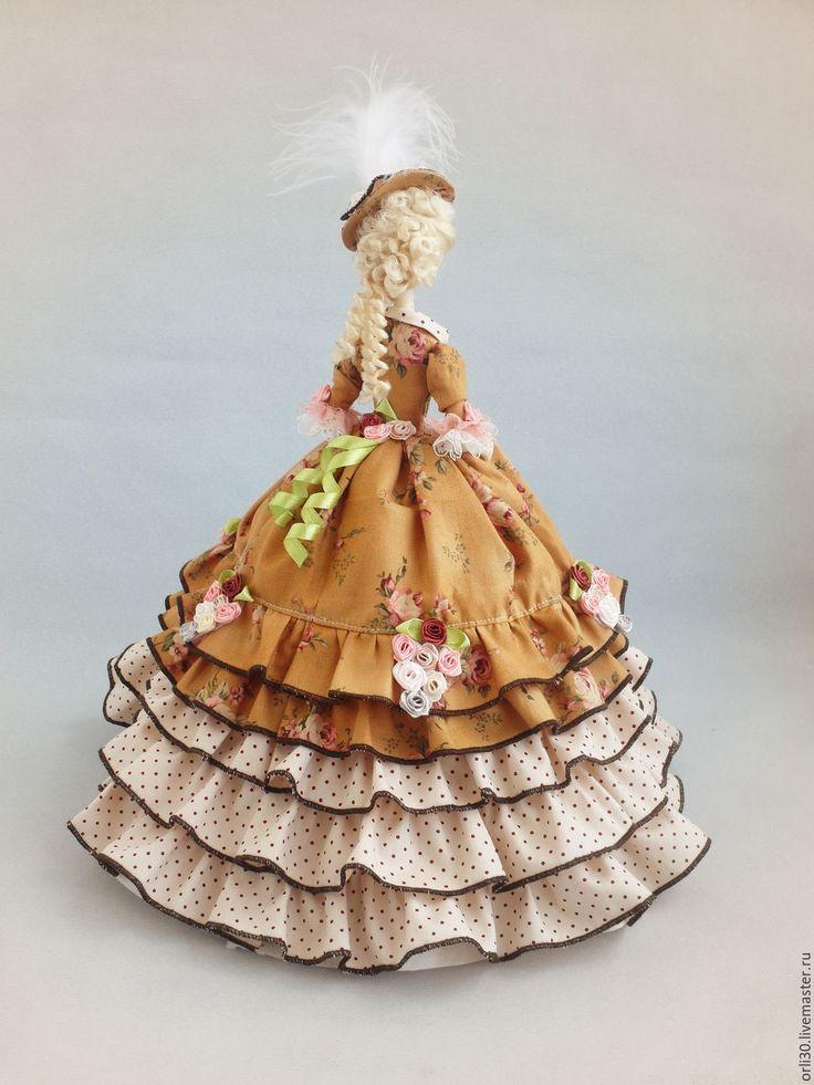 Купить Текстильная кукла. Тряпиенс. Татьяна - коричневый, текстильная кукла, тряпиенса, тряпиенс, тряпиенсы ♡