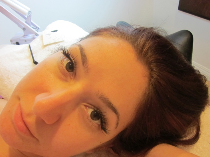 silk eyelash extensions. My FAVORITE thing in the whole wide world!!!