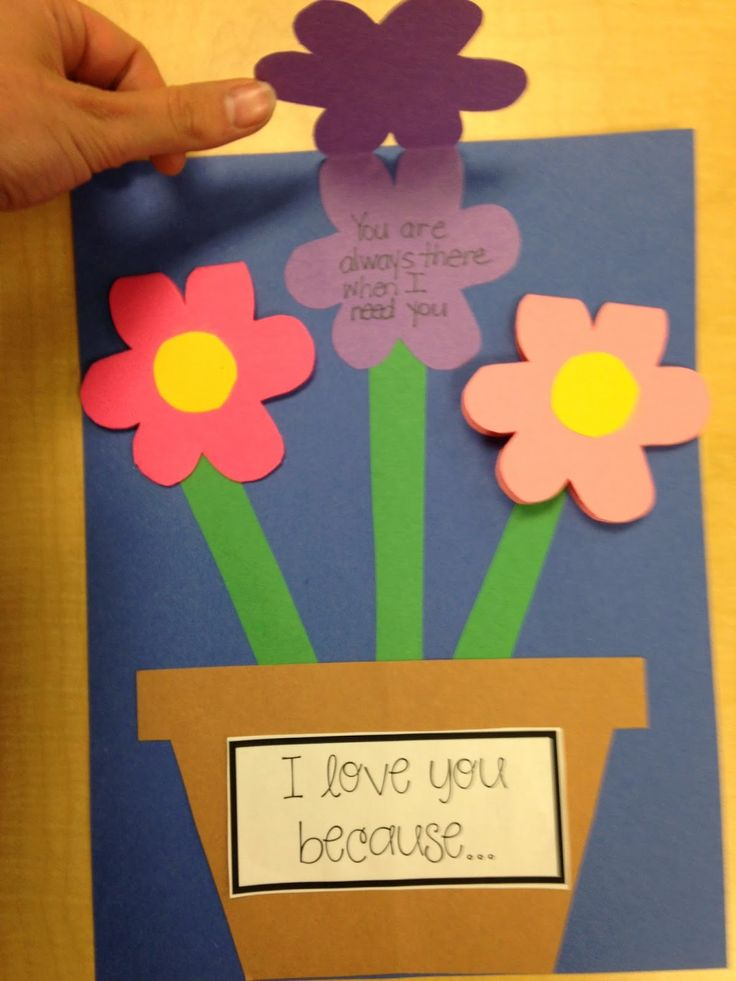 Craftivity and flower shaped gift book for Mother's Day