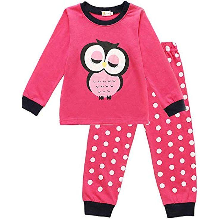 EULLA Kinder Schlafanzug Mädchen Lang Giraffe Pyjama Marienkäfer Nachtwäsche …