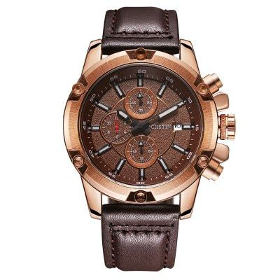 Share and Get It FREE Now | Join Gearbest |   Get YOUR FREE GB Points and Enjoy over 100,000 Top Products,OCHSTIN 075B Fashion Leather Casual Sport Military Watches Men Business Quartz Male Wristwatch Relogio Masculino