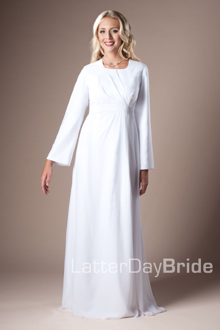 1000 images about temple dresses on pinterest bridal for Mormon temple wedding dresses
