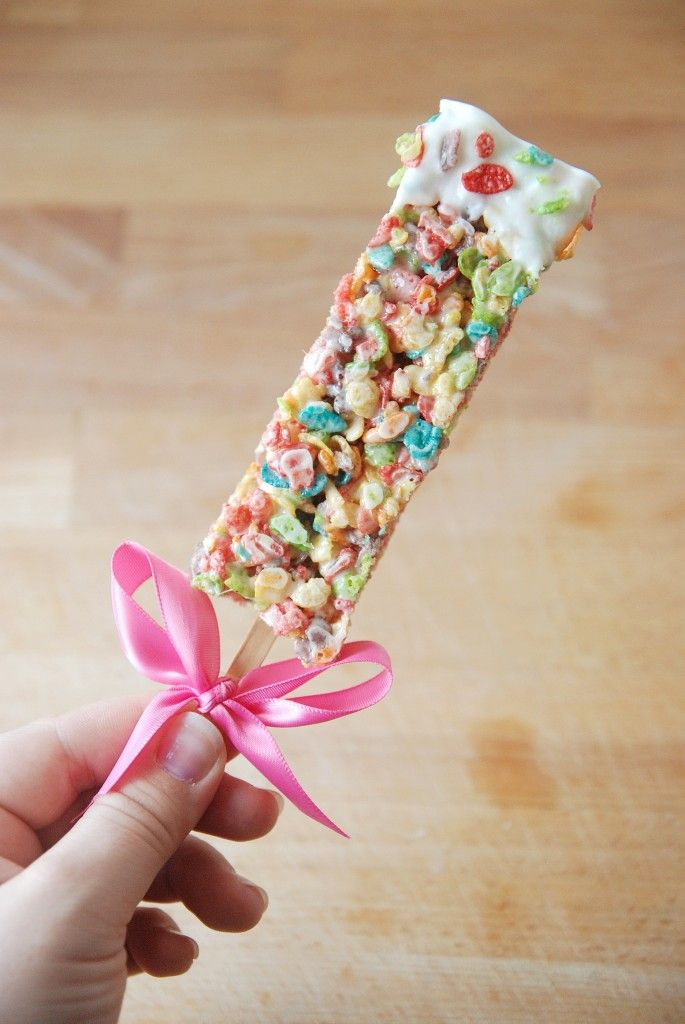 fruity pebble rice krispie treats