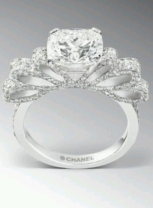 chanel ribbon bow ring accessories pinterest