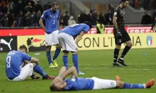 Four-time world champions Italy have failed to qualify for the 2018 FIFA World Cup after falling 1-0 on aggregate to Sweden in the European playoffs.  Trailing 1-0 from the first leg in Sweden Italy needed at least a 2-0 victory at San Siro on Monday night to make it to Russia next summer but were held goalless.  Sweden sat back on their advantage and despite the hosts enjoying 75% possession with 20 shots at goal they failed to find the breakthrough.  The result means the Azzurri will not…