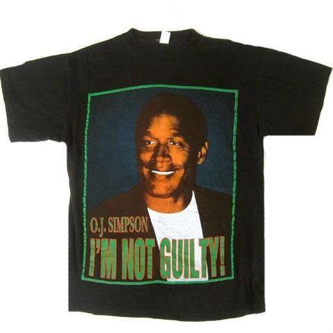 Vintage OJ Simpson I'm Not Guilty T-Shirt