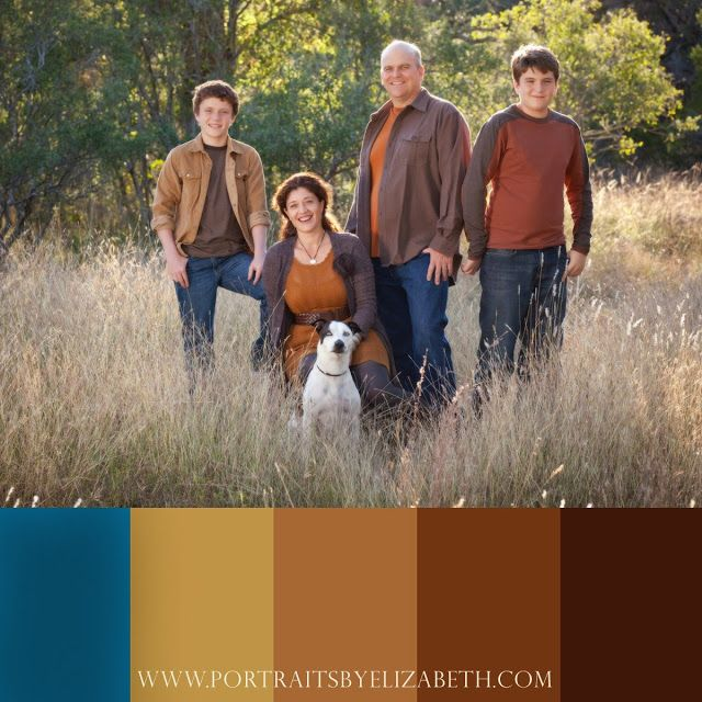 17 Best Images About Family Photo Color Combos On