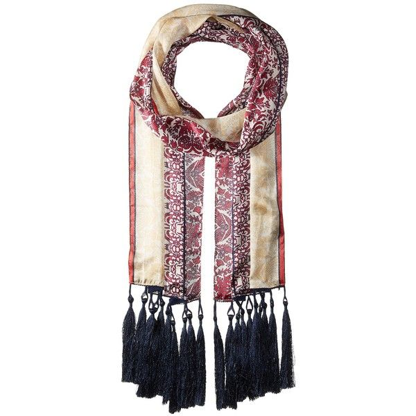 Vince Camuto Paisley Panels Oblong (Beet Red) (3700 RSD) ❤ liked on Polyvore featuring accessories, scarves, red scarves, paisley scarves, vince camuto, wrap shawl and paisley shawl