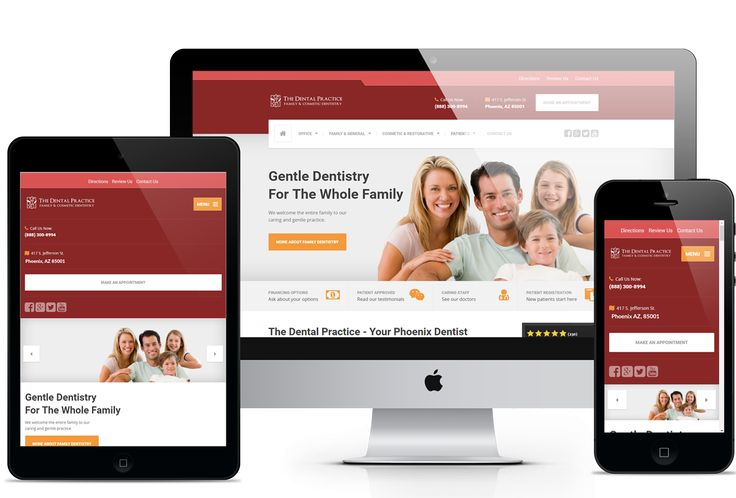 Dental Website Design  #ResponsiveDesign