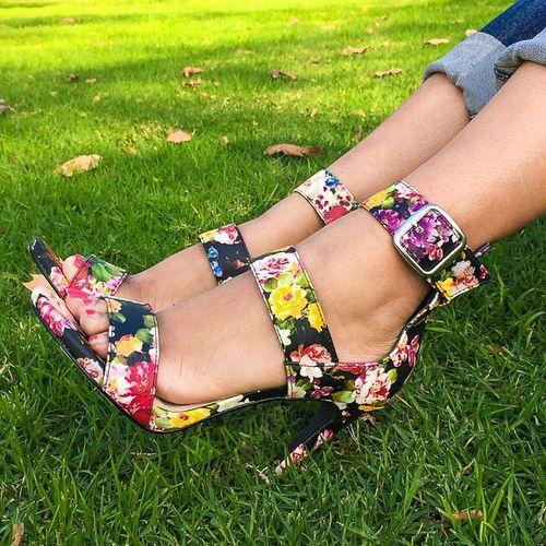 Strappy Floral Heels, Spring/Summer 2016.