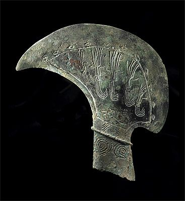 Dong Son culture, North Vietnam, Pediform axe 4th-2nd century BCE, bronze, Musée Barbier Mueller, Geneva