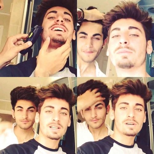 THESE ARE ZAYN'S COUSINS OH MY GOD I'M SCREAMING