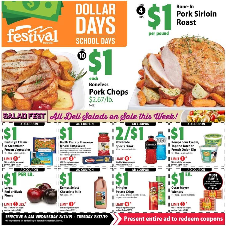 Festival Foods Weekly Ad August 21 27, 2019