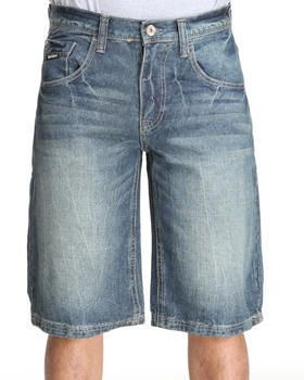 $20, Blue Denim Shorts: Enyce New Tradition Denim Short. Sold by DrJays.com. Click for more info: https://lookastic.com/men/shop_items/14719/redirect