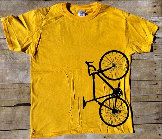 This unique play on bicycling is a great way to show your love of the sport. This makes a fun unique gift for any avid bike rider. Design shown