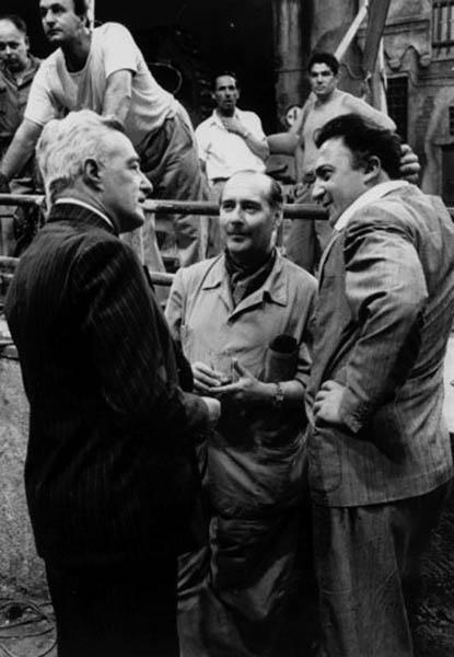 Vittorio de Sica, Roberto Rossellini et Federico Fellini