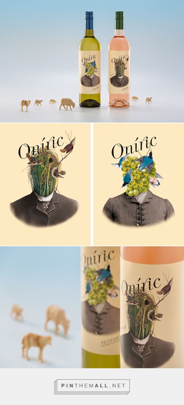 Art direction, illustration and packaging for Oníric on Behance by Ladyssenyadora Graphic Studio Vilafranca del Penedès, Spain curated by Packaging Diva PD. Odd but interesting wine labels.