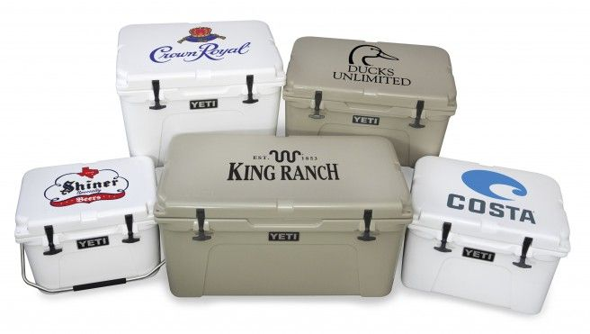 custom yeti coolers - great guy gift.             Casey's Father's Day gift from his girls.