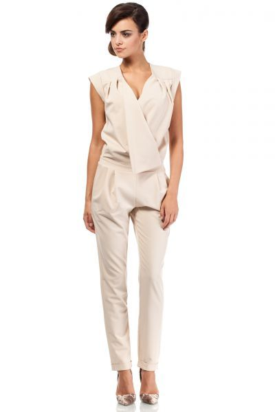 Pantsuit for women in beige color
