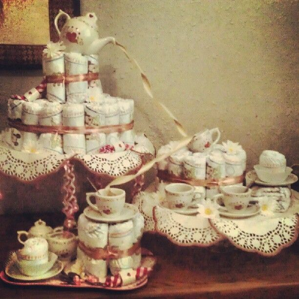 Tea Party Diaper Cake Personal Creation
