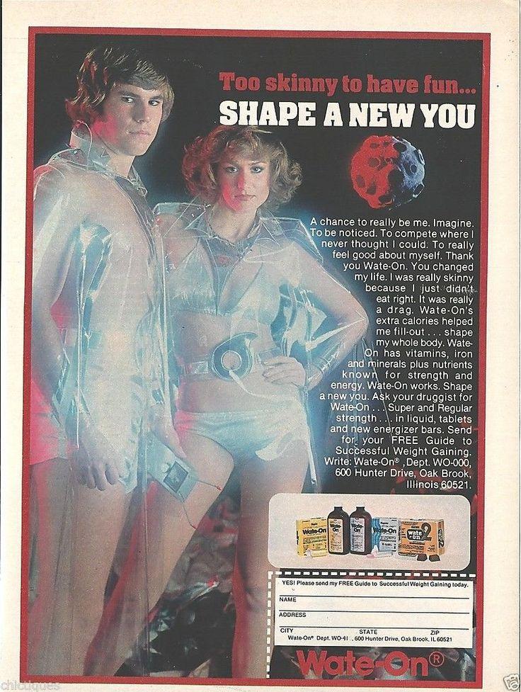 1978 MAN WOMAN Metallic Bathing Suits PLASTIC Poncho SPACE AGE Wate-On Health Ad | eBay