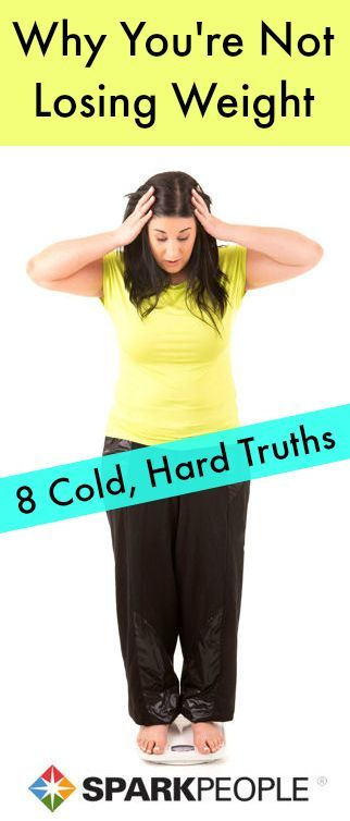 8 Reasons Why You're Not Losing Weight. Confused by your plateau? Let us solve the weight-loss mystery for you. #weightloss