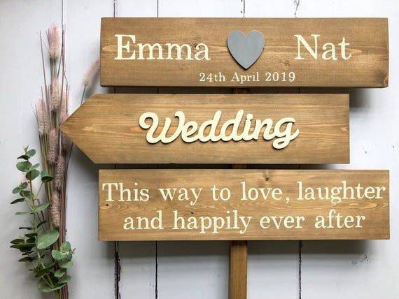 Wedding Sign Personalised Wooden Sign Wedding Decor Rustic Etsy Wooden Wedding Signs Wedding Signs Personalized Wedding Sign