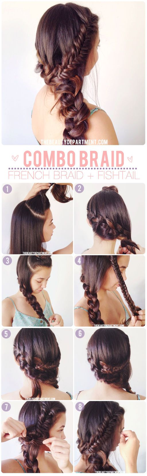 French braiding tips - Gorgeous Messy Long Hair Fishtail French Braid Bohemian Chic Hair Tutorial Diy Pinup