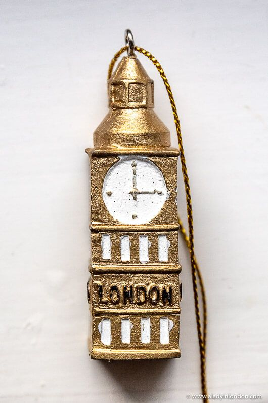 dbed89c31cd8 London Christmas ornament shaped like Big Ben. Click through to win it on  the A Lady in London blog. #london #christmas #christmasornaments #bigben