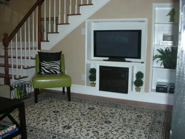 Tv Built In Under Staircase Television Under Stairs Design Ideas