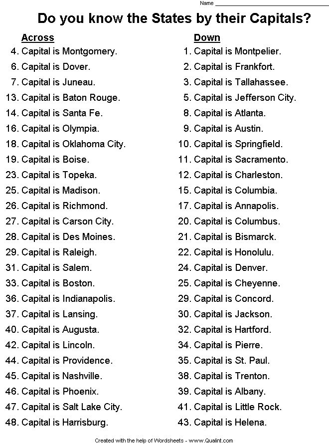 50 states and capitals game i like to learn