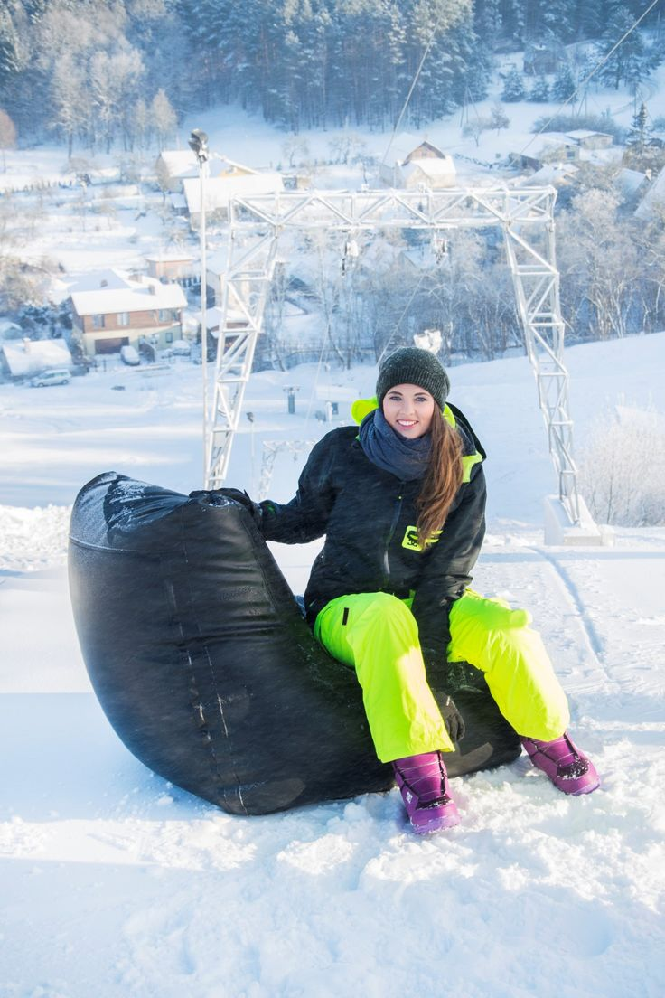 Pusku pusku bean bags and winter fun at the skiing center  #pusku #createhappiness