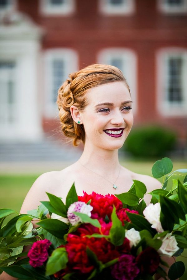 Jewel-Toned Ruby and Marsala Wedding Inspiration