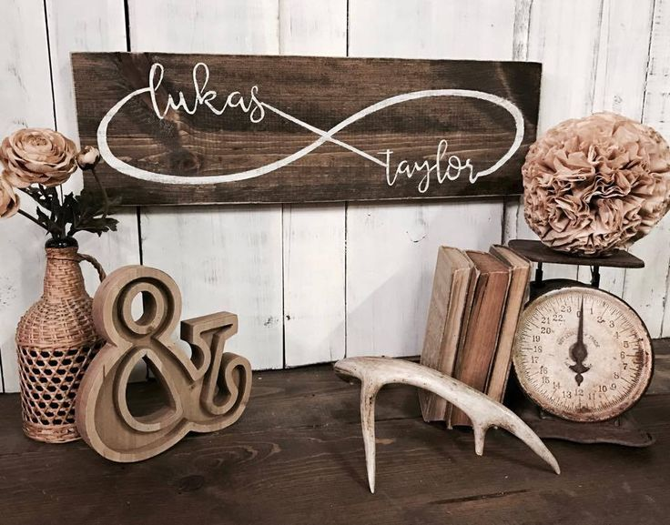 """- Measures approx. 8""""w x 24""""h - Sign is lightly distressed with a dark brown stain and your choice of cream or turquoise lettering. - Handmade in Eau Claire, WI. +Lead Time :: Approx { 10 - 14 busines"""